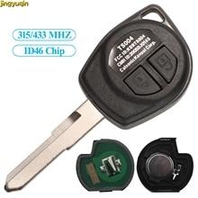 Jingyuqin Fernbedienung Auto Schlüssel 315/433MHz ID46 Chip Für SUZUKI ALTO SX4 SWIFT VITARA IGNIS JIMNY Splash KBRTS004 2 tasten Eintrag Fob