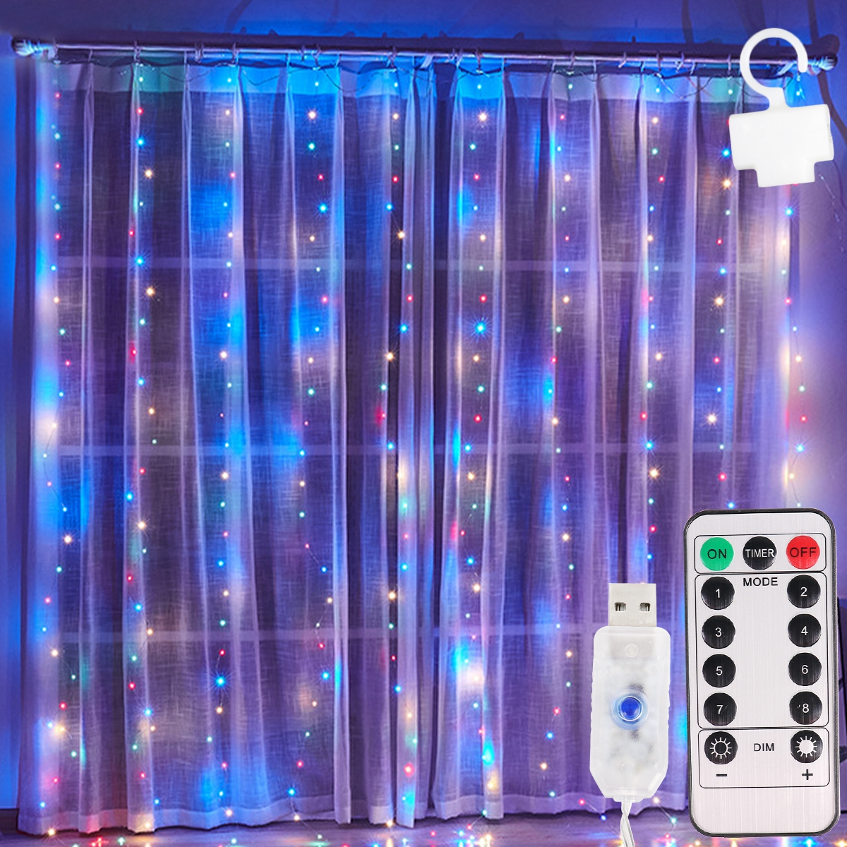 Permalink to 3M LED Fairy Lights Garland Curtain Lamp Remote Control USB String Lights garland on the window Christmas Decorations for Home