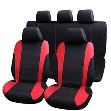 Capas protetoras de assento de carro universal, 9 peças, capas de assento automotivo, fo kalina grantar lada priora renault logan 2
