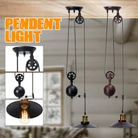 Mising E27 Single Vintage Loft Retro Pendant Light Sconce Hanging Pulley Lamp Fixtures Restaurant Bar Home Decoration