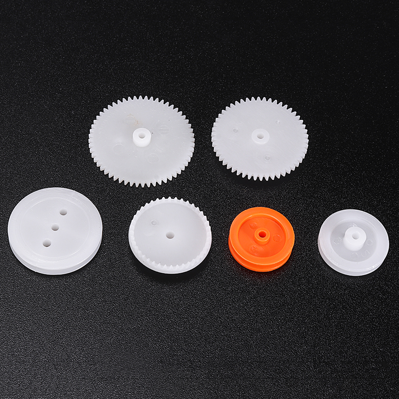 64 Kinds Plastic Shaft Single Double Layer Crown Worm Gears Motor Wheels M0.5 for Toys Robot DIY