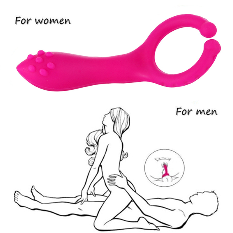 Men Women Silicone Prostate Massage Fitness Accessories Vibration Clip For Male Female G Spot Stimulation Vibrator