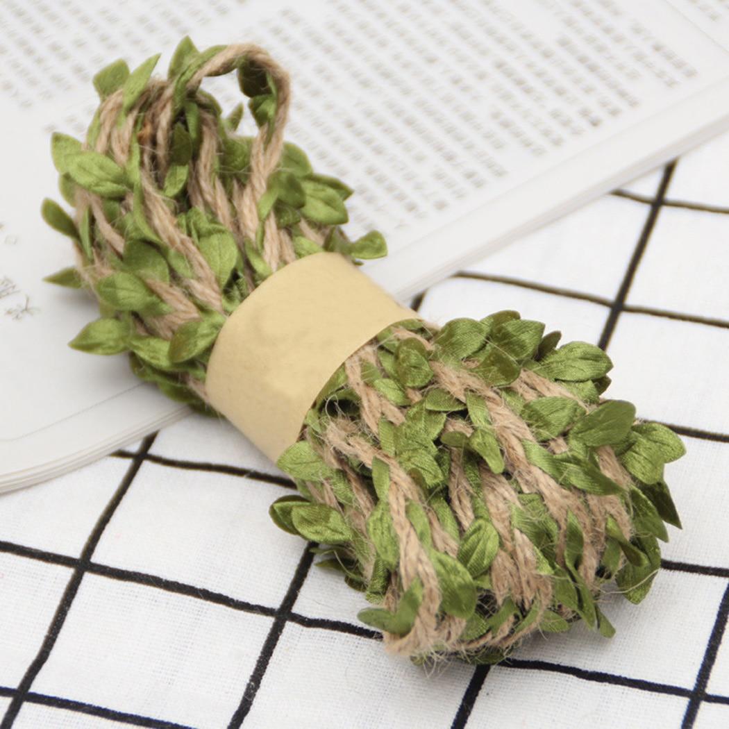Искусственные ветки из конопли, 5/10 м, искусственные ветки из конопли с зелеными листьями, вечерние аксессуары для самостоятельного декора