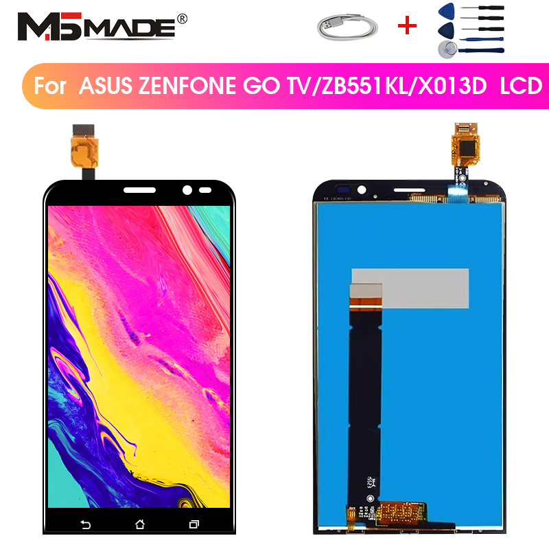 5.5'' Original For <font><b>Asus</b></font> Zenfone Go TV ZB551KL Display LCD Touch Screen Digitizer Assembly For <font><b>ASUS</b></font> <font><b>X013D</b></font> ZB551KL LCD Display image