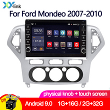 10 INCH Android 9.0 knob Car radio stereo for Ford Mondeo 2007-2010 Multimedia dvd player gps Navigation system accessory camera