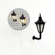 HO OO N Scale 3V Scale Model Led Lamppost luces de pared lámparas para modelo de construcción tren paisaje Layout