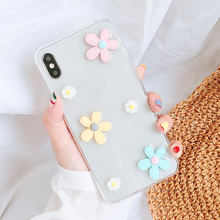 Kisscase Cao Cấp Bling Long Lanh Hoa Ốp Lưng Điện Thoại Iphone 6 6S 7 8 Plus X XS Max XR Case trong Suốt Silicone Mềm Coque Fundas CapA(China)