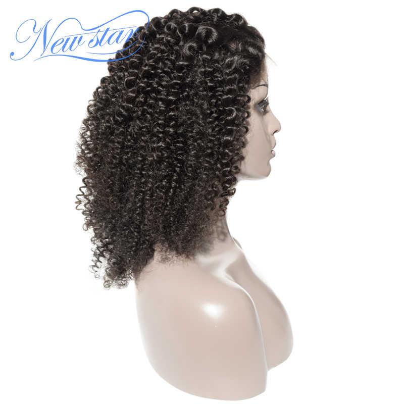Афро пряди кудрявых волос с 5x5 закрытие парик Новая звезда монгольские виргинские человеческие волосы парик индивидуальные 3 части парики кружева