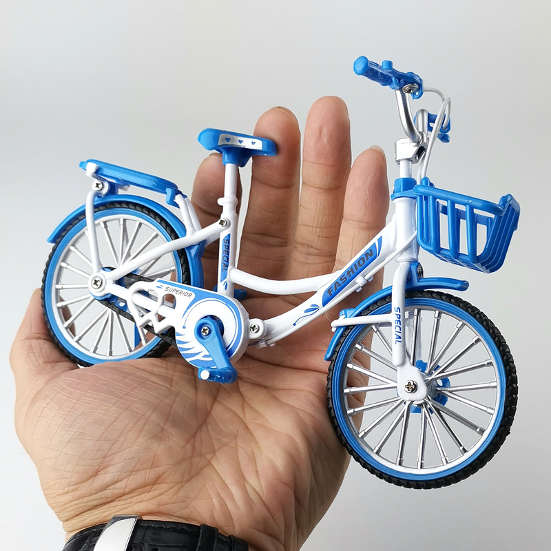 Crazy Magic Finger Bike Alloy Bicycle Model 1:10 Simulation Bicycle Bend Road Mini Racing Toys Adult Collection Home Furnishing