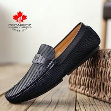 2020 mężczyźni buty mokasyny męskie moda jesień mężczyźni obuwie Design luksusowe mokasyny skórzane obuwie męskie marki męskie mieszkania