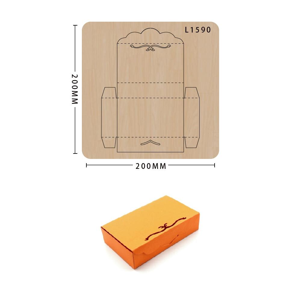 cutting dies gift box Making Decor Supplies Dies Template New Design Craft wood Cutting Die decoration scrapbook Card Craft