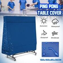 Ping-Pong Tisch Staub Covers Oxford Wasserdichte Outdoor Regen Wind Sonne UV Beständig Tennis Tisch Lagerung Abdeckung Mit Lagerung tasche