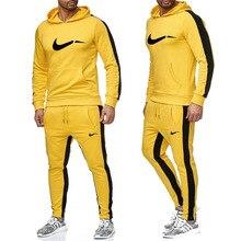 New Men Sportswear Hoodies Pants Set Spring Track Suit Clothes Casual Tracksuit Sweatshirts Coats Male Joggers Streetwear