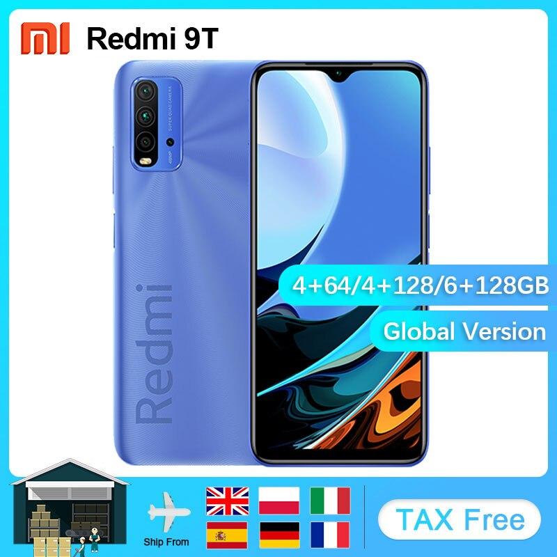 Küresel sürüm Xiaomi Redmi 9T Smartphone 4GB 64GB/4GB 128GB /6GB 128GB Snapdragon 662 6000mAh 48MP arka kamera 6.53 Cellphone