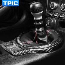 Tpic para subaru brz toyota 86 2013-2020 de fibra de carbono botão do deslocamento de engrenagem do carro capa adesivo decoração guarnição molduras acessórios