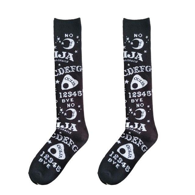 Ouija Board Socks Socks Socks & Hosiery Stockings Anime Clothing Cosplay Women's Clothing & Accessories cb5feb1b7314637725a2e7: Black
