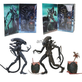 22cm 1986 Aliens Blue and Brown  Alien Eggs Facehuggers Chestburster PVC Action Figure Collectible Model Toys Dolls Gifts