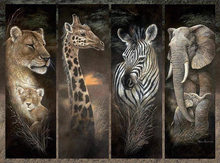Pride of Africa Animal Embroidery for Needlework Crafts14CT Counted Unprinted DMC DIY Cross Stitch Kits Handmade Arts Wall Decor(China)