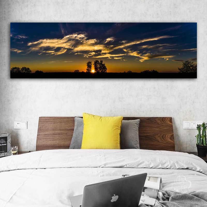 RELIABLI ART Clouds Sky Pictures Dusk prints Landscape Painting Wall Art For Living Room Modern Decorative Painting Posters