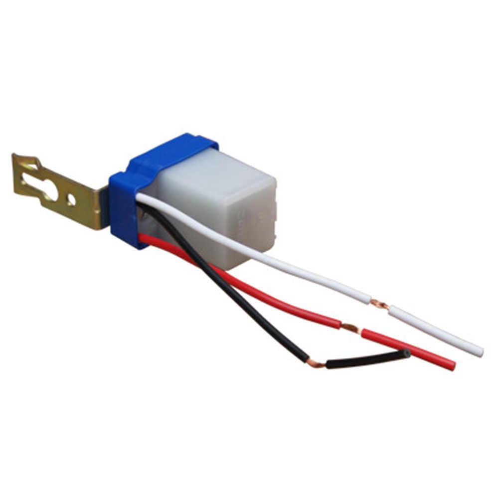 Переключатель управления светом Водонепроницаемый горячий мини сумерек датчик сумерек сумеречный выключатель открытый ночник датчик 12 В 10A
