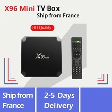 X96Mini Android 9,0 tv box Amlogic S905w 64 разрядная пятиядерная ARM Mali 450 с Нео смарт ТВ приставкой французского склада Бесплатная доставка