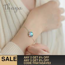 Thaya Aurora Ladies' Bracelets s925 Silver Gradient Crystal Magical Bracelet Female Simple Elegant Dainty Friendship Jewelry(China)