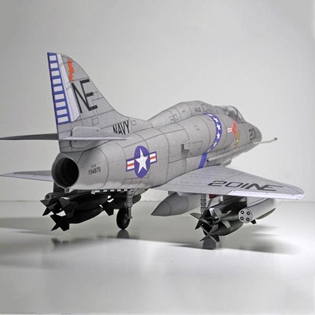 American A-4 Skyhawk Attack Aircraft Paper Model DIY Plane Paper Aircraft Model Attack R9P8 1