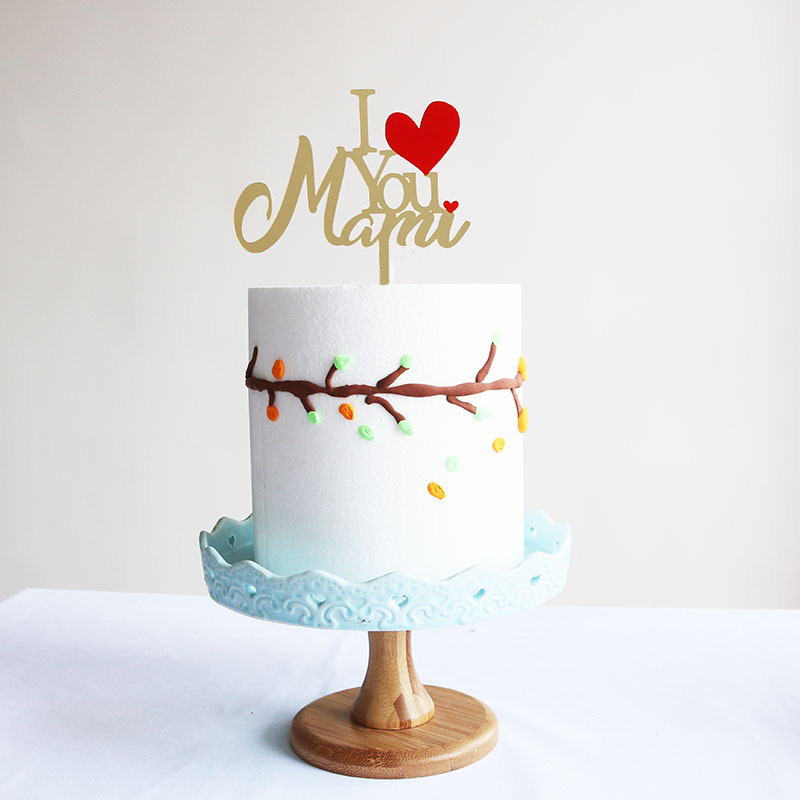 Magnificent New Mothers Day Acrylic Cake Topper Gold I Love You Mom Birthday Funny Birthday Cards Online Elaedamsfinfo
