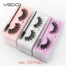 YSDO Eyelash Wholesale 10/20/30/40/100 Pairs 3D Mink Lashes Natural False Eye Lashes Wholesale Mink Eyelashes Makeup Fake Lashes