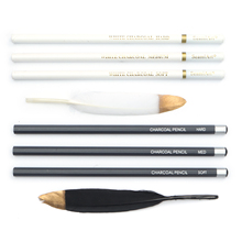 Charcoal Pencil Art-Supplies Belgium Seamiart Sketching Wood for Outdoor Painting 3pcs