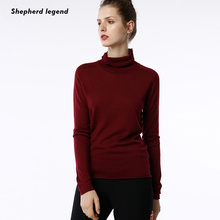 Shepherd Legend  Women's Clothing Pure Wool Women Clothes Femme Sexy High Neck Fashion Popular New Top Cropped Sweaters Girl