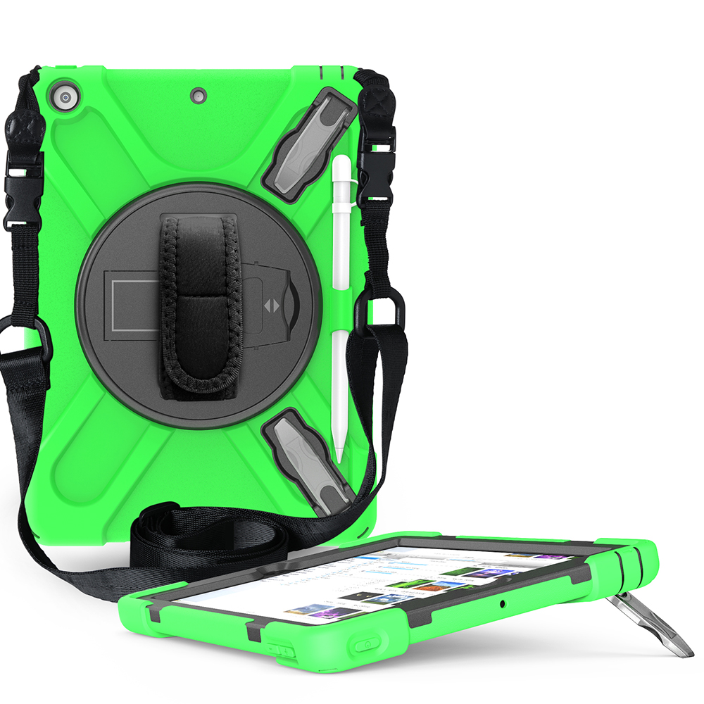 green Green Case for iPad 10 2 Heavy Armor Kids Shokproof Cover A2197 A2198 A2200 A2270 A2428 A2429