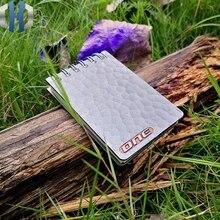 Concave Surface Titanium Alloy Tactical Notebook Outdoor Camping Record Book EDC Tactical Portable Notebook