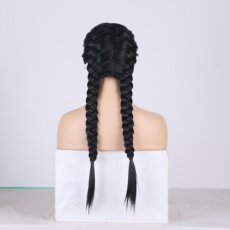 as mulheres parte média tranças trança peruca de cabelo