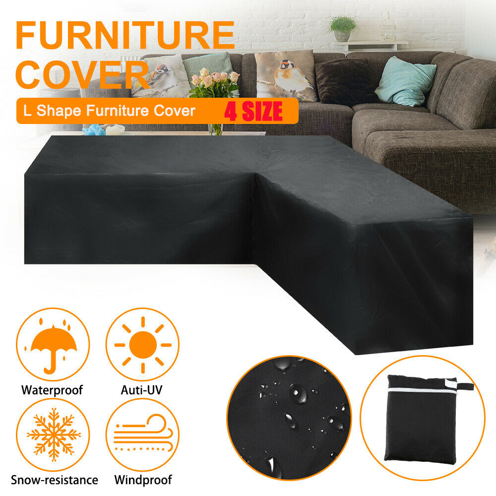 Waterproof L Shape Furniture Cover Outdoor Garden Patio Rattan Sofa Dustproof V Shaped Mold Resistant Cover All Purpose Covers Aliexpress