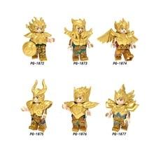 Saint Seiya строительные блоки 12 созвездий Овен, Телец Близнецы Рак фигурки совместимые Legoings игрушки для детей
