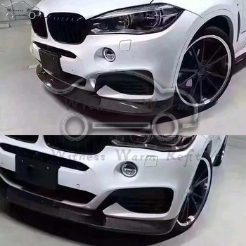 F16 Carbon Fiber Front Bumper Lip Diffuser Spoiler For BMW X6 with M sport edition front shovel Car Styling 2015-Up image