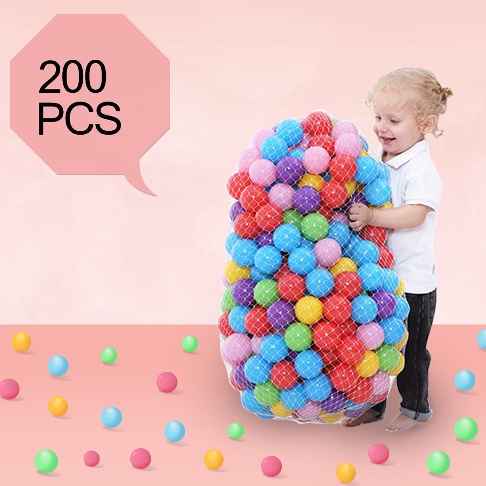 200 Pcs/Lot Plastic Balls Eco-Friendly Colorful Ball Soft Kids Swim Pit Toys Beach Balls Water Pool Ocean Wave Balls Dia 5.5 Cm