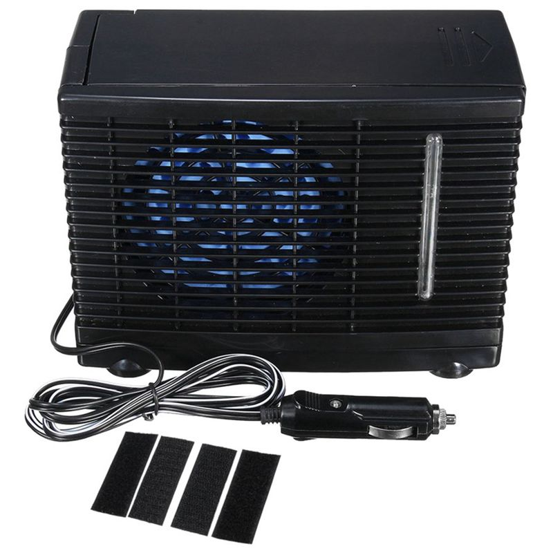 Mini Air Conditioner Air Cooler With Fan 12V Speed Adjustable Radiator With Cigarette Lighter Adapter For Car Vehicle Truck