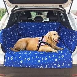Ткань Оксфорд Коврик для багажника автомобиля водонепроницаемый Pet Carrier собака Чехол подушки сиденья автомобиля собака коврик одеяло Чехол...
