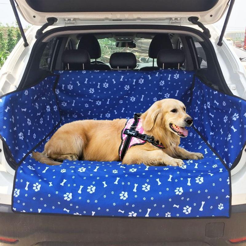 Oxford Cloth Car Trunk Mat Waterproof Pet Carrier Dog Car Seat Cushion Cover Dog Mat Blanket Cover Mat Hammock Cushion Protector