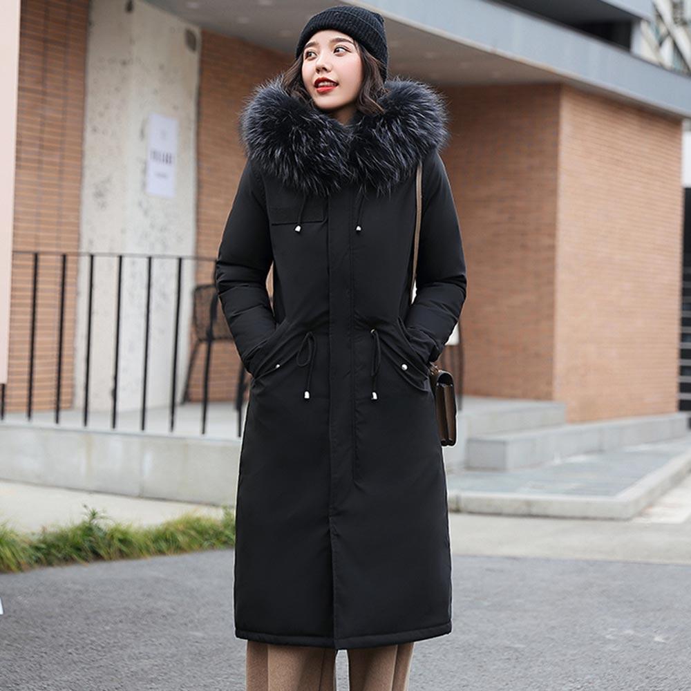 PinkyIsBlack -30 градусов, одежда для снежной погоды Длинные парки зимняя куртка Для женщин с меховым капюшоном Костюмы женский Меховая подкладка ...