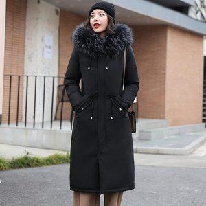 Image 3 - PinkyIsBlack Parkas largas para nieve de 30 grados para mujer, chaqueta de invierno, ropa con capucha de piel, abrigo de invierno grueso con forro de piel para mujer