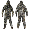 Mens Outdoor Bionic Winter Camouflage Clothes Hunting Clothing Winter Hunting Suits with Fleece Ghillie Suit