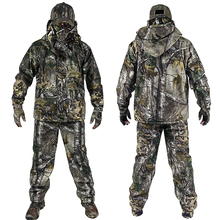 Ropa de camuflaje biónica de invierno para hombre, ropa de caza, trajes de caza de invierno con traje de lana Ghillie