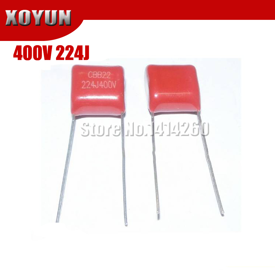 20PCS 400V224J 400V 0.22UF 220NF 400V 224J 224 CBB P10 Polypropylene Film Capacitor