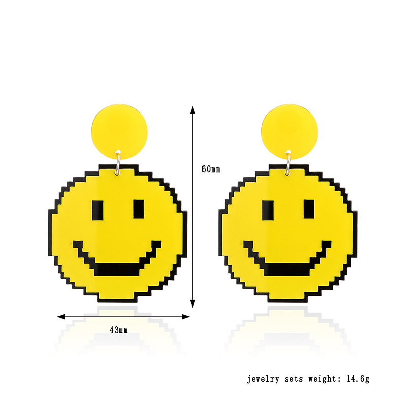 Yellow Smile Earrings 4