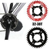 Bicicleta elétrica e bike 104bcd chainring + adaptador para bafang mid drive motor de aço inoxidável peças duráveis Acessórios para bicicleta elétrica Esporte e Lazer -