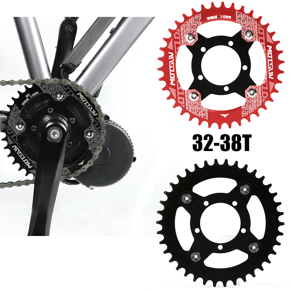 Electric Bicycle E-bike 104BCD Chainring + Adapter For Bafang Mid Drive Motor Stainless Steel Durable Parts