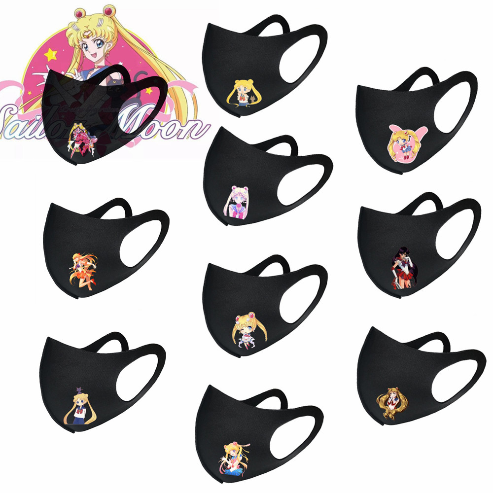 Anime Cute Cartoon Mask Sailor Moon Cosplay Dustproof Keep Warm Masks Props